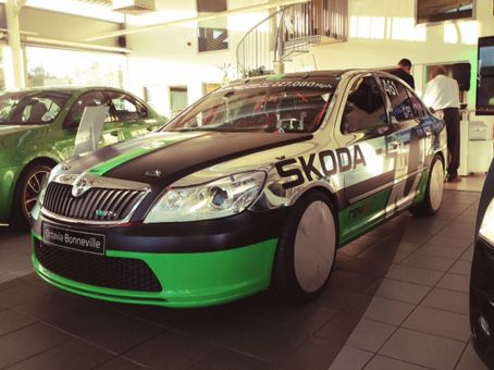 New Skoda vRS launch night at Derek Slack Motors