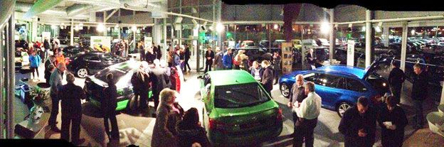 New Skoda Octavia vRS launch night