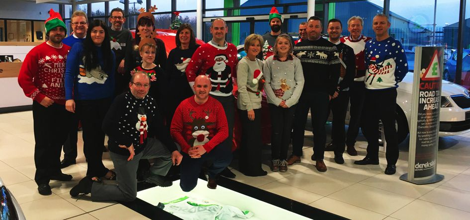 Staff wear a wooly for Christmas Jumper Day