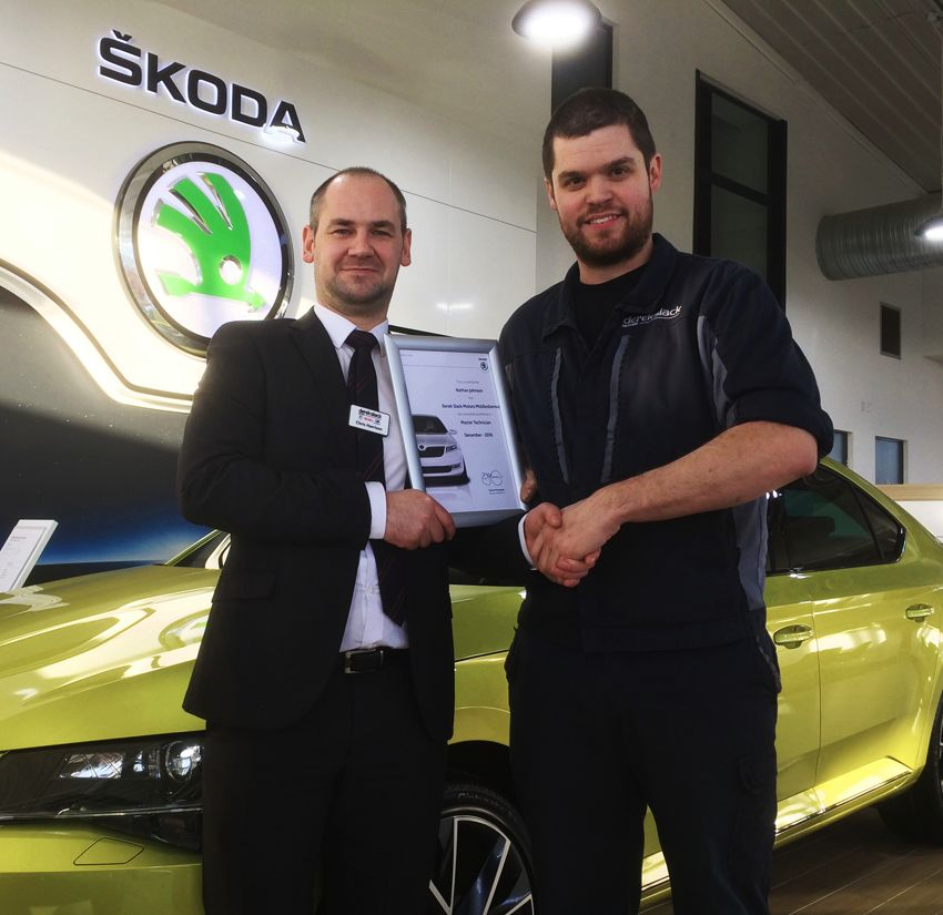 Nathan Johnson qualifies as 'SKODA Master Technician'