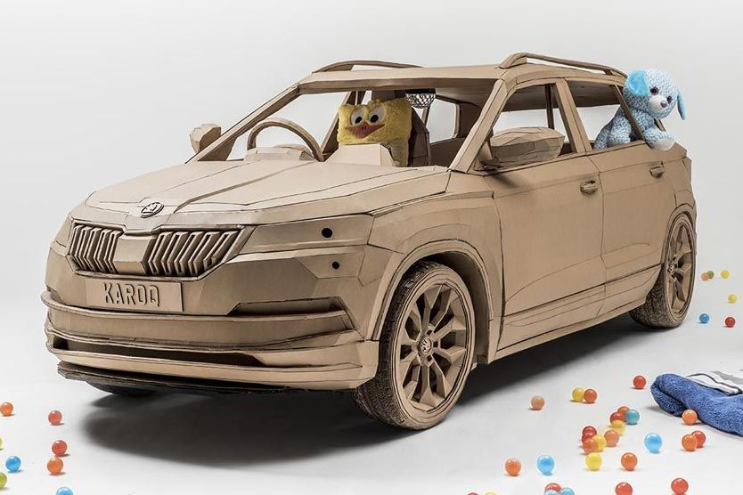 ŠKODA creates KID KAROQ, the world's most child-friendly SUV… from cardboard