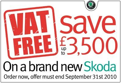 VAT FREE SKODA-MIDDLESBROUGH