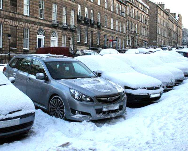 Subaru and snow in North Yorkshire and Middlesbrough