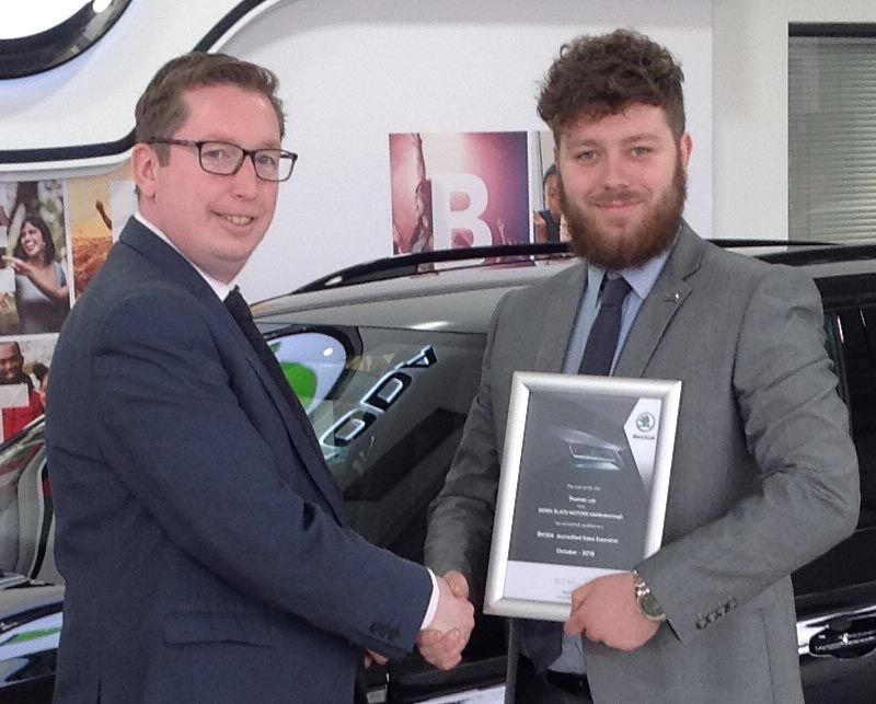 Tom Ley - Another Accreditation to the Derek Slack Motors Team