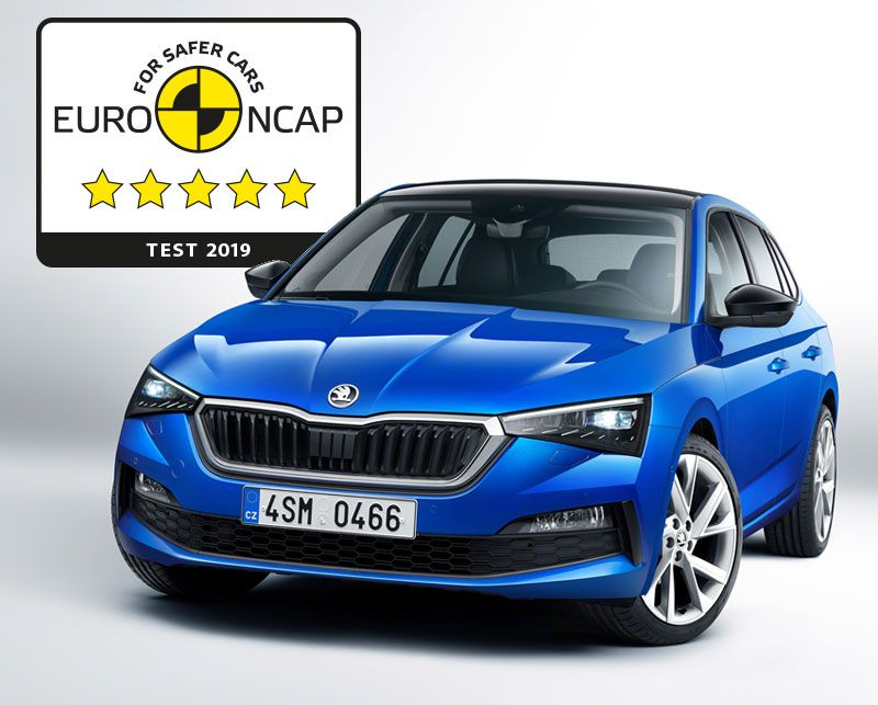 ŠKODA SCALA scores five stars in Euro NCAP test